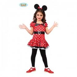 Disfraz de ratoncita Minnie para niña - Imagen 1