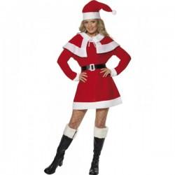 Disfraz de Miss Santa de forro polar - Imagen 1