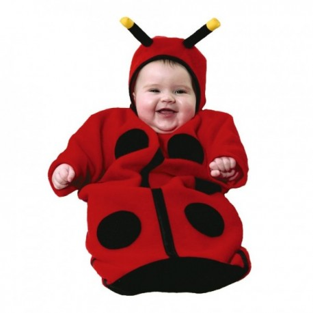 Disfraz de bebé mariquita - Imagen 1