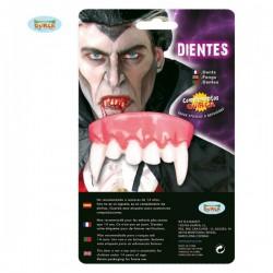 Dentadura colmillos de vampiro - Imagen 1