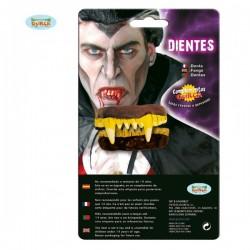 Dentadura completa dorada de vampiro - Imagen 1