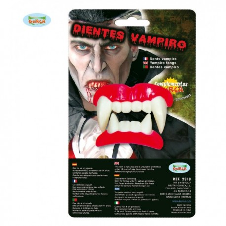 Dentadura completa colmillos de vampiro - Imagen 1