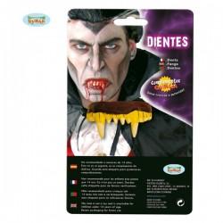 Dentadura dorada de vampiro - Imagen 1