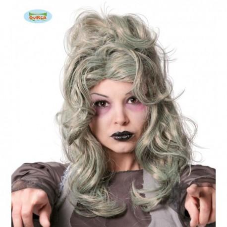 Peluca gris mujer zombie - Imagen 1