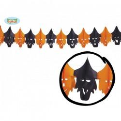 Guirnalda brujas naranjas y negras - Imagen 1