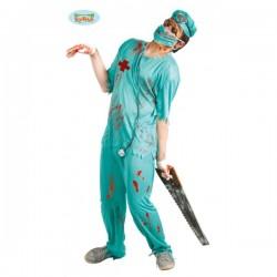 Disfraz de cirujano de quirófano zombie - Imagen 1