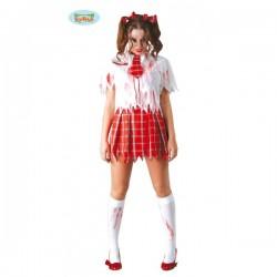 Disfraz de colegiala zombie - Imagen 1