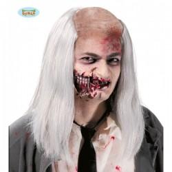 Calva de zombie con peluca - Imagen 1
