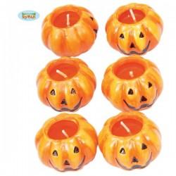 Set de velas calabaza - Imagen 1