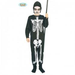 Disfraz de esqueleto huesitos para niño - Imagen 1
