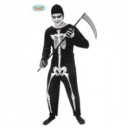 Disfraz de esqueleto de la muerte - Imagen 1