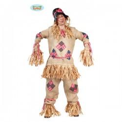 Disfraz de espantapájaros de paja para hombre - Imagen 1