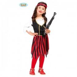 Disfraz de corsaria roja para niña - Imagen 1