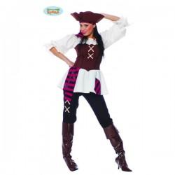 Disfraz de pirata de los 7 mares para mujer - Imagen 1
