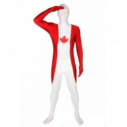 Disfraz de bandera de Canadá Morphsuit - Imagen 1