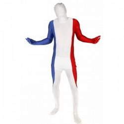 Disfraz de bandera de Francia Morphsuit - Imagen 1