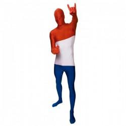 Disfraz de bandera de Holanda Morphsuit - Imagen 1