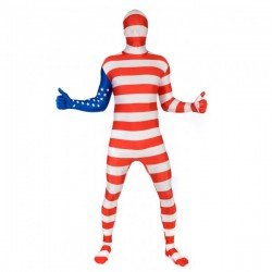 Disfraz de bandera de Estados Unidos Morphsuit - Imagen 1