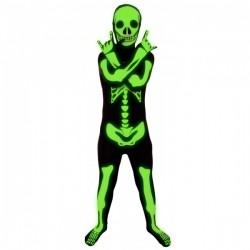 Disfraz de esqueleto brillante Morphsuits infantil - Imagen 1
