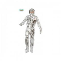 Disfraz de astronauta plateado para adulto - Imagen 1