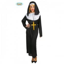 Disfraz de monja para mujer - Imagen 1