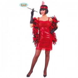 Disfraz de charlestón rojo - Imagen 1