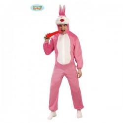 Disfraz de conejo rosa - Imagen 1