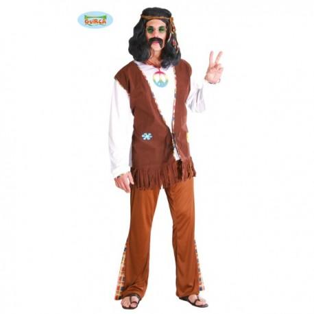 Disfraz de hippie feliz - Imagen 1