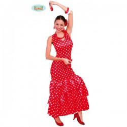 Disfraz de sevillana roja - Imagen 1