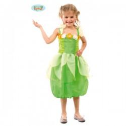 Disfraz de hada verde para niña - Imagen 1