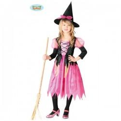 Disfraz de bruja rosita para niña - Imagen 1