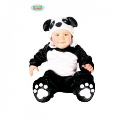 Disfraz de oso panda para bebé - Imagen 1