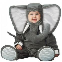 Disfraz de elefante gris para bebé - Imagen 1