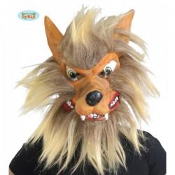 Careta de lobo con pelo - Imagen 1