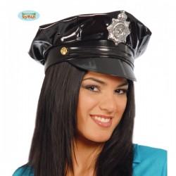 Gorra de policía de vinilo - Imagen 1