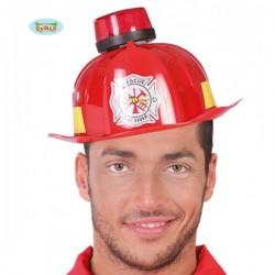 Casco de bombero con sirena y luz - Imagen 1