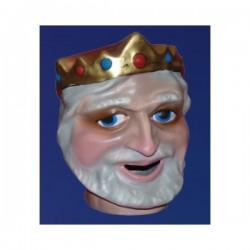 Cabezudo infantil rey blanco - Imagen 1