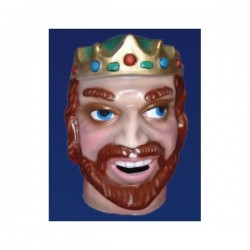 Cabezudo infantil rey rubio - Imagen 1