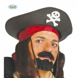 Sombrero pirata negro - Imagen 1