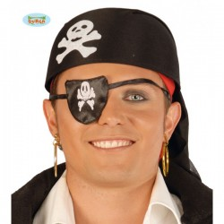 Sombrero pirata tela negra - Imagen 1