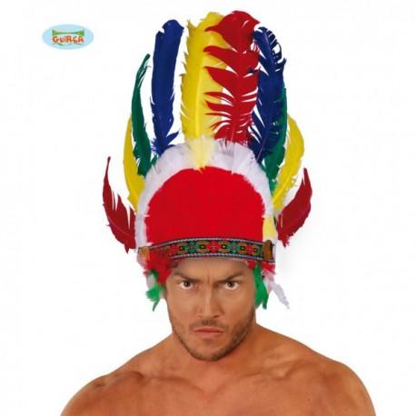 Penacho con plumas indio - Imagen 1
