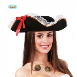 Sombrero de mujer pirata - Imagen 1