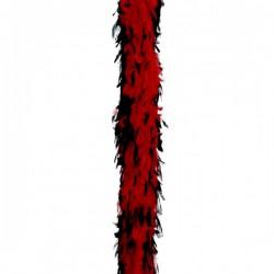 Boa de pluma roja y negra - Imagen 1