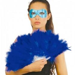 Abanico de plumas azules - Imagen 1