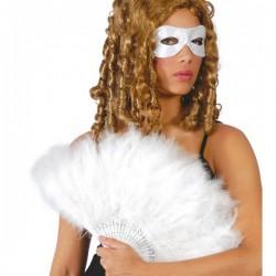 Abanico de plumas blancas - Imagen 1