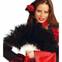 Abanico de plumas negras - Imagen 1