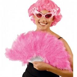 Abanico de plumas rosas - Imagen 1