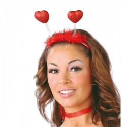 Diadema de corazones escarchados - Imagen 1