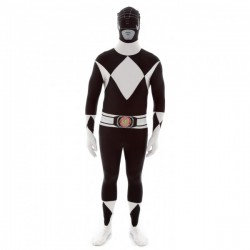 Disfraz de Power Ranger Negro Morphsuit - Imagen 1