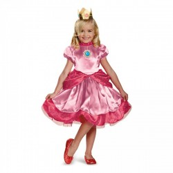 Disfraz de mini Princesa Peach para niña - Imagen 1